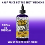 Sluice Juice half price bottle shot weekend