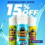 15% OFF CANDY KING SHORTFILLS