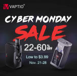 Vaptio Cyber Monday down to $3.99,  22%-60% off.
