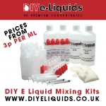 DIY E Liquid Mixing Kits – Great Concentrate Flavours – Available With Nicotine – Prices from 2.5p per ml