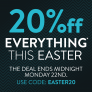 eCig One Easter Vape Discount Code – 20% off everything