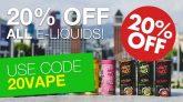 Ecig One Discount Code 20% off all eLiquids