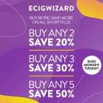 Up to 50% Off All E-Liquid at ECIGWIZARD
