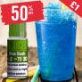 50% OFF – Blue Slush  only £1