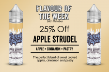 Sweet Vapes Flavour of the Week – APPLE STRUDEL – 50ml Shortfill £4.20