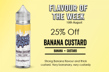 Sweet Vapes Flavour of the Week – BANANA CUSTARD – 50ml £4.19
