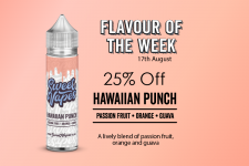 Sweet Vapes Flavour of the Week – Hawaiian Punch – 50ml £4.20