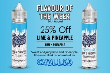 Sweet Vapes Flavour of the Week – Lime & Pineapple – 50ml £4.20