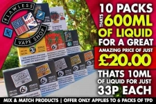 Flawless 600ml for £20 or 60ml for £2.50