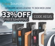 GeekVape Aegis Legend TC Box MOD 33%OFF!!!