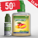 £3.99 – 50% OFF Shortfill of the week is Mango Cream – 50ml with free nic shot!
