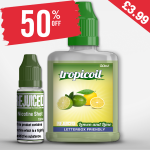 £3.99 – 50% OFF Shortfill of the week is Lemon and Lime – 60ml with free nic shot!