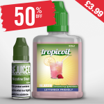 £3.99 – 50% OFF Shortfill of the week is Strawberry Lemonade – 50ml Shortfill – Tropicoil with free nic shot!