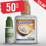 £3.99 – 50% OFF Shortfill of the week is Coconut Milk – Shortfill with free nic shot!