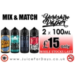 ⚡️ THE YORKSHIRE VAPER 2 x 100ML – £15 ONLY ⚡️
