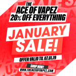 20% OFF EVERYTHING – Ace of Vapez January Sale