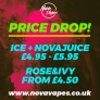 NovaVapes – Price Drop NovaJuice/NovaIce – £5.95