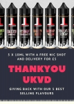 Liquid London 5x10ml Sample Pack £5 DEAL