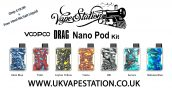 Voopoo Drag Nano Pod KIT + Free 10ml Nicsalt liquid