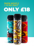 SMOK NOVO 2 POD FOR ONLY £18 + FREE NIC SALT E-LIQUID