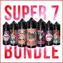 Super 7 Bundle – 420ml (7 x 50ml shortfill eliquid) – £16.99 – FREE NICOTINE SHOTS & UK SHIPPING – 3mg