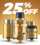 25% OFF ALL REBUILDABLE TANKS