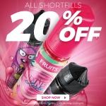 20% OFF ALL SHORTFILLS