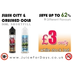 ⚡️ 62% OFF ⚡️ 9 FLAVOURS – *£3.00* ONLY (50mL)