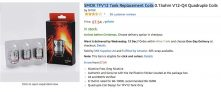 SMOK TFV12 Tank Replacement Q4 Coils £7.54 delivered