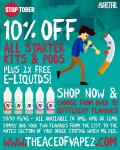 2x FREE E-LIQUIDS & 10% OFF!