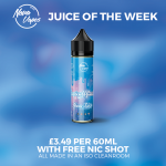 Juice of The Week – Tropical Glacier – £3.49 per 50ml + a FREE 10ml nicotine shot! FREE UK delivery over £14.99.