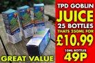 Goblin Juice 10ml – 49p each, 25 for £10.99
