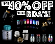 UP TO 40% OFF SELECTED RDA'S!