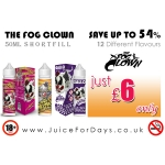 THE FOG CLOWN ELIQUID – £6 ONLY! *UP TO 54% OFF* ⚡️