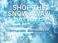 VapeWild EU Snowy Vapey Deal – 20% off all eLiquids