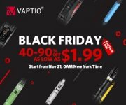 SOLD OUT – UP T0 90% OFF !! Black Friday Vape Deals from Vaptio