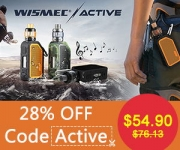 Low Price!!! 28% OFF Wismec Active Kit 80W