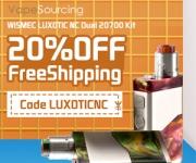 20% OFF WISMEC LUXOTIC NC Dual 20700 Kit!!!