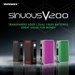 Wismec Sinuous V200 E-cig Mod – £31.99 At TECC